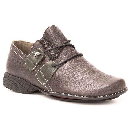 e8eb010938 Sapato Feminino em couro Wuell Casual Shoes - PUERTO NATALES - JXC 1400 -  marrom escuro