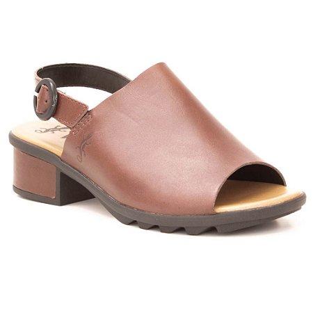 20617e0852 Sandália Feminina em couro Wuell Casual Shoes - TI 70139 - marrom ...