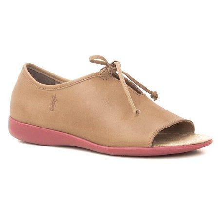 46ac800348 Sandália Feminina Fechada em couro Wuell Casual Shoes - VN 028640 - marrom  claro