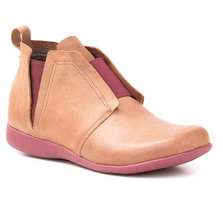 178c6dd422905 Bota Feminina em Couro Wuell Casual Shoes - NV 282741 - PUNTA ARENAS -  marrom claro