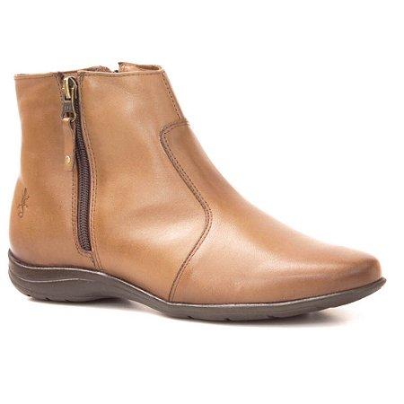Bota baixa Feminina em Couro Wuell Casual Shoes - LAGO GENERAL CARRERA - PV 2944 - marrom