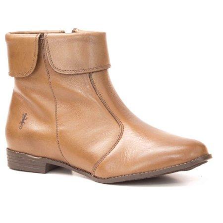 Bota Feminina em Couro Wuell Casual Shoes - LAGO GENERAL CARRERA - PV 5540 - marrom