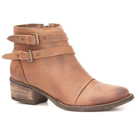 Bota Feminina de salto médio em Couro Wuell Casual Shoes - LAGO GENERAL CARRERA - PV 54816 - marrom