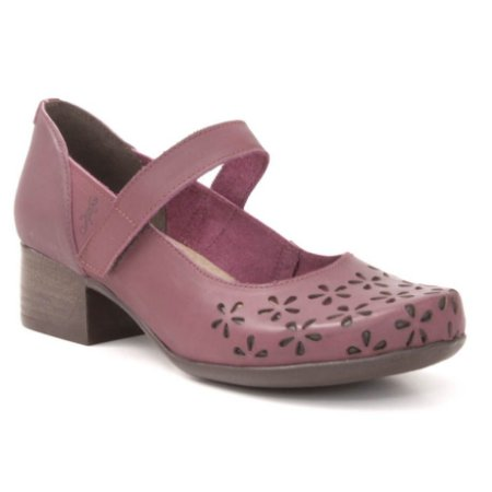Sapato Feminino salto médio em couro Wuell Casual Shoes - PUNTA ARENAS - VN 024651 - bordô