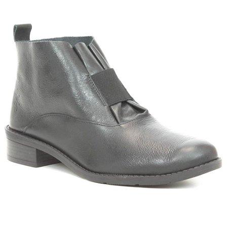 Bota de salto baixo Feminina em Couro Wuell Casual Shoes - FITZ ROY - BZ 5650 - petro rústico