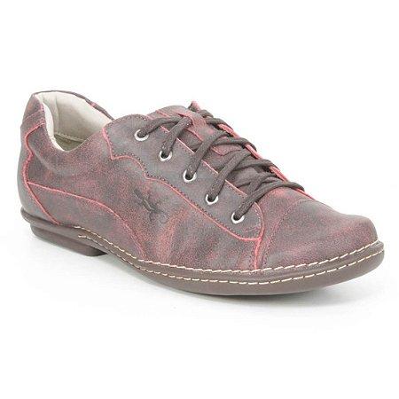 Sapatênis Feminino de couro Wuell Casual Shoes - PUERTO NATALES -  JMA 5800  - vermelha