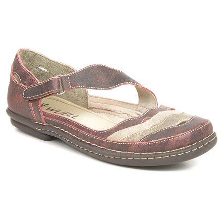 Sapatilha feminina em Couro Wuell Casual Shoes - Castelo - JMA 2002 - Bordô