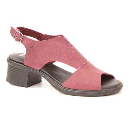 Sandália feminina em Couro Wuell Casual Shoes - Pati - RO 00617 - açaí