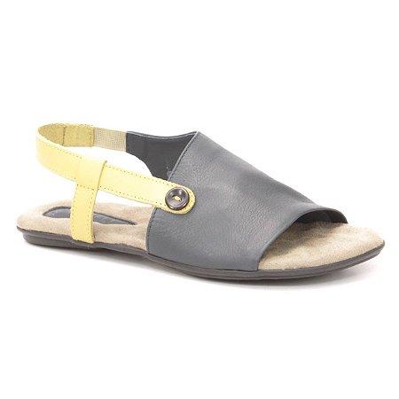 Sandália Rasteira Feminina em couro Wuell Casual Shoes - VN 335232 - azul