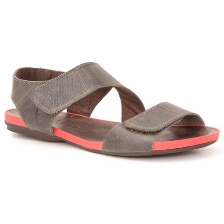 Sandália Rasteira Feminina em Couro Wuell Casual Shoes - Contas - VC 96310 - carbono