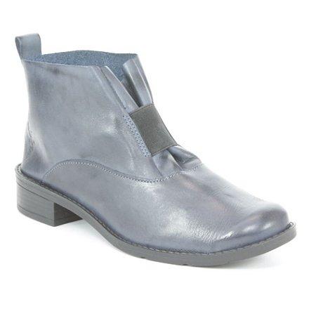 Bota de salto baixo Feminina em Couro Wuell Casual Shoes - BZ 5650 - azul marinho