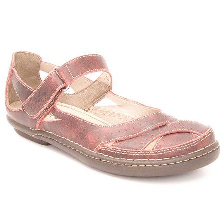 Sapato Feminino em couro Wuell Casual Shoes - Castelo - JMA 1902  - BORDO