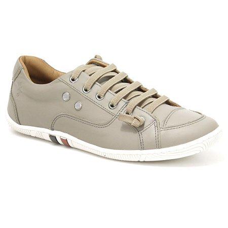 Sapatênis Feminino de couro Wuell Casual Shoes - Pati - RO 12135 - cinza