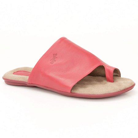 Sandália Rasteira Feminina em couro Wuell Casual Shoes - Andaraí - VN 333232 - vermelho