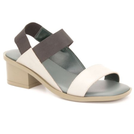 Sandália Feminina salto médio em couro Wuell Casual Shoes - Mucugê - LEB 10935 - cinza