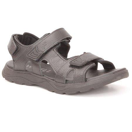 Sandália Papete Masculina em Couro Wuell Casual Shoes - Men - TI 40115 - preto