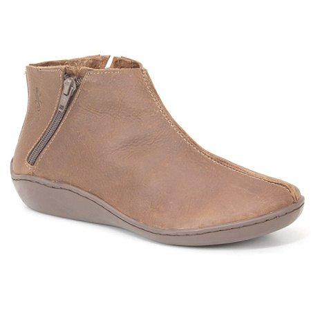 Bota Feminina em Couro Natural Wuell Casual Shoes - Pati - RO 78910 - marrom