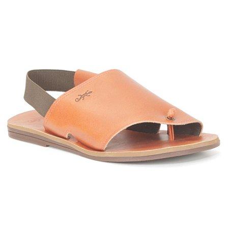 Sandália Rasteira Feminina em Couro Wuell Casual Shoes – MIZ 8818 – laranja queimado