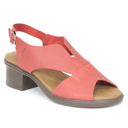 Sandália feminina em Couro Wuell Casual Shoes - RO 00617 - vermelha