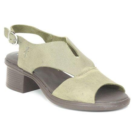 Sandália feminina em Couro Wuell Casual Shoes - RO 00617 -verde