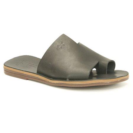 Sandália Rasteira Feminina em Couro Wuell Casual Shoes – MIZ 9317 – preta