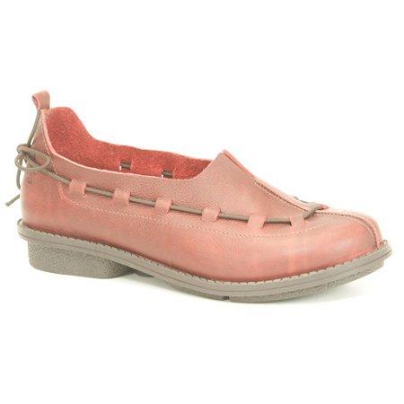 Sapato Feminino em Couro Wuell Casual Shoes- RO 5757 - vermelho