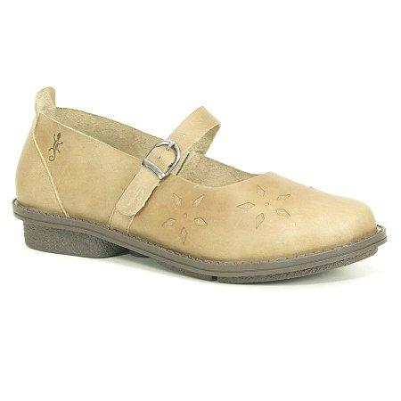 Sapato Feminino em Couro Wuell Casual Shoes - RO 4051 - areia