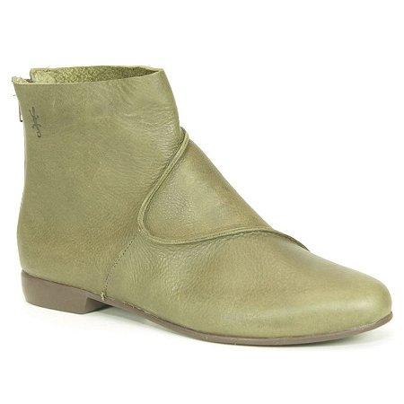 Bota feminina em Couro Wuell Casual Shoes - RO 0829 - verde