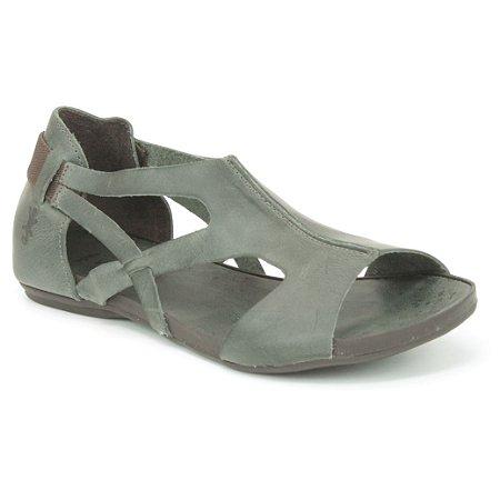 Sandália Rasteira Feminina em Couro Wuell Casual Shoes - VC 72810 - carbono