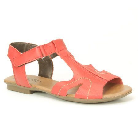 Sandália Feminina em couro Wuell Casual Shoes - AB 910 - vermelha