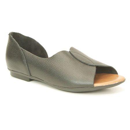 Sandália Feminina em couro Wuell Casual Shoes - AB 170 - preto