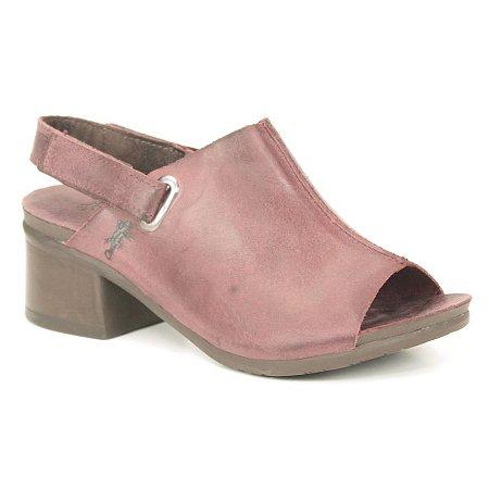 Sandália de salto médio Feminina em Couro Natural Wuell Casual Shoes - VC 00850 – roxa