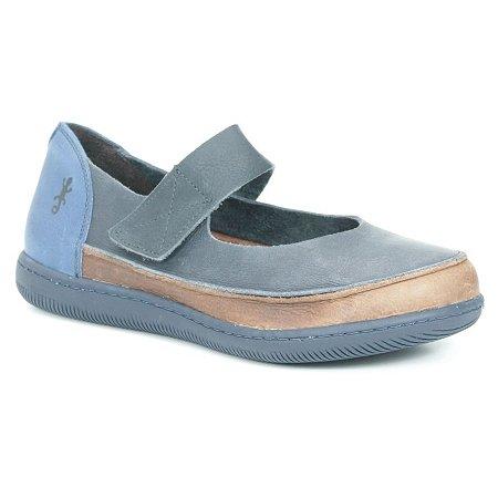 Sapato feminino em Couro Natural Wuell Casual Shoes - VC 73680 –  azul e marrom