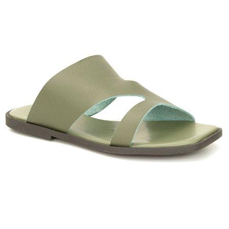 Sandália Feminina em Couro Natural Wuell Casual Shoes – ZTG 5728 –  verde