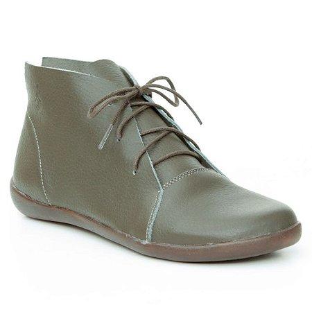 Bota Feminina em Couro Natural Wuell Casual Shoes – MIZ 4319  –  verde musgo