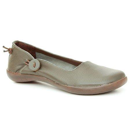 Sapatilha feminina em Couro Natural Wuell Casual Shoes – MIZ 7716  –  verde musgo