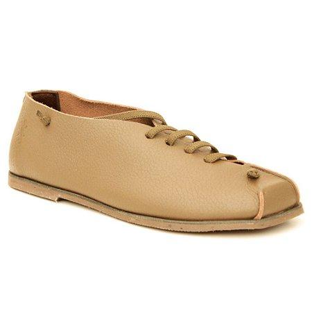 Sapato feminino em Couro Natural Wuell Casual Shoes – MIZ 7618 –  marrom claro