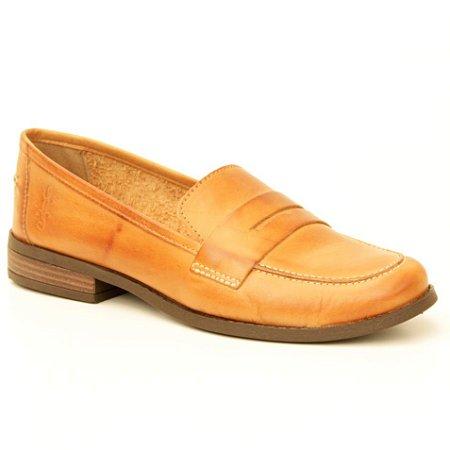 Sapato feminino em Couro Natural Wuell Casual Shoes – BZ 6132–  marrom claro
