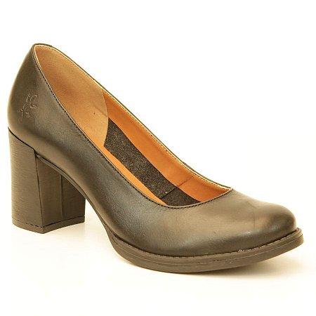Sapato feminino em Couro Natural Wuell Casual Shoes – BZ 7632 –  preto
