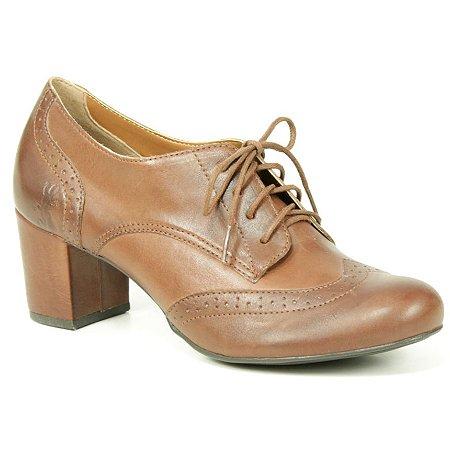 Sapato feminino em Couro Natural Wuell Casual Shoes – BZ 4633 –  marrom