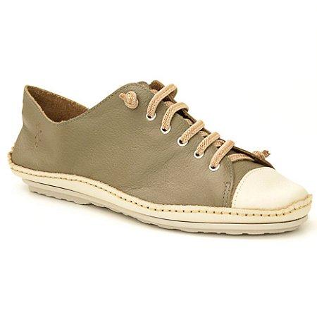 Sapatênis feminino em Couro Natural Wuell Casual Shoes - DA 0500 –  marfim e musgo