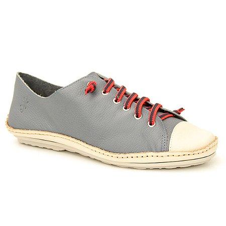 Sapatênis feminino em Couro Natural Wuell Casual Shoes - DA 0500 –  marfim e azul