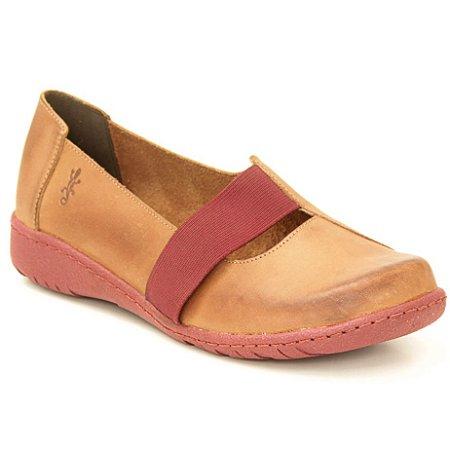Sapato feminino em Couro Natural Wuell Casual Shoes - VN 185681– marrom e bordô