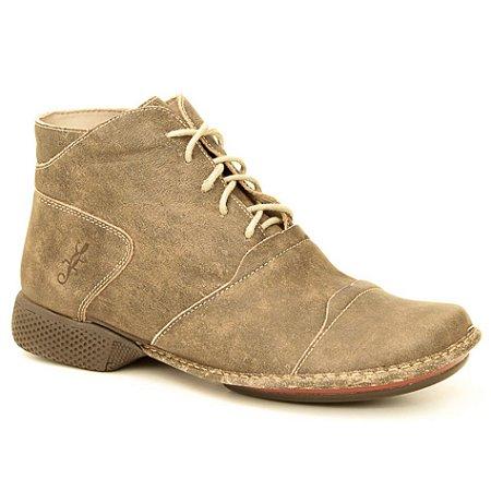 Bota Feminina em Couro Natural Wuell Casual Shoes - JXC 1800 - marrom