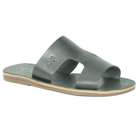 Sandália Rasteira Feminina em Couro Wuell Casual Shoes – MIZ 1218 – preta