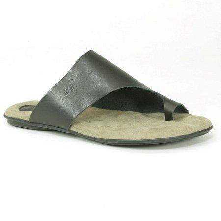 Sandália Rasteira Feminina em couro Wuell Casual Shoes - VN 341232 - preta