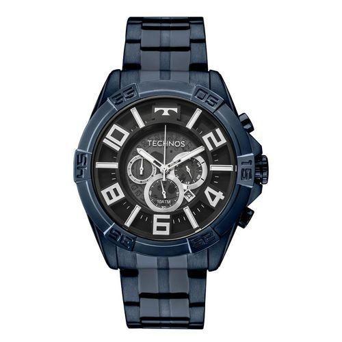 7d2273e15631e Relógio Technos Masculino OS2ABH 4P Cronógrafo Azul BigCase ...