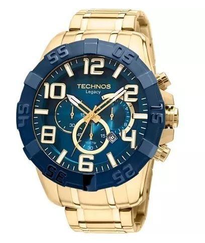 9ff70438560 RELÓGIO TECHNOS DOURADO MASCULINO LEGACY OS20IQ 4A - Relógios1.com ...
