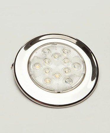 Luminária De Cabine Em Aço Inox Branco Quente ArielTek E1234