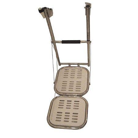 """Escada Dobrável Aço Inox com 2 Plataformas Dive N Dog 16"""""""